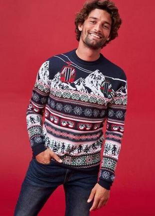 Трендовый свитерок новогодняя тематика новая коллекция f&f ® c...