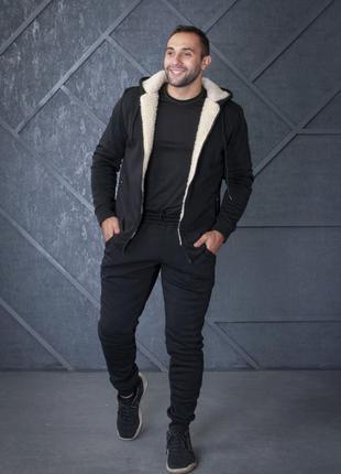 Lux🔥 тёплый мужской спортивный костюм на меху / качество 👍 цен...