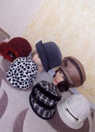 6 шапок одним лотом/шапка/берет/кепка/панама/шарф/платок/шарф/...
