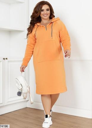 Теплое платье на флисе большие размеры