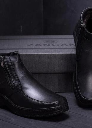 Мужские кожаные зимние ботинки matador classic