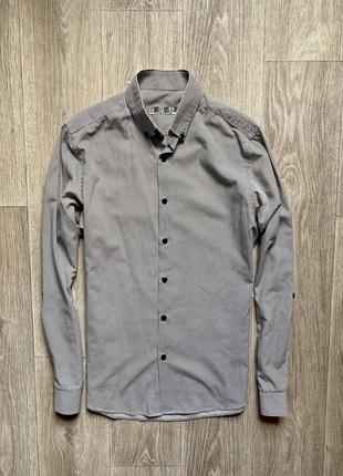 Topman рубашка мужская s размер рубаха с длинным рукавом