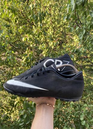 Nike cr7 сороконожки оригинал черные копы 42 размер 41 бутсы