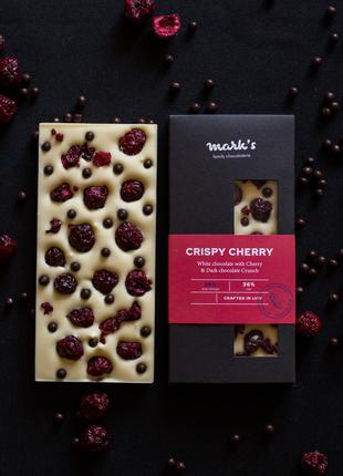 """Бельгійський Преміум Шоколад Ручної Роботи Mark's """"Crispy Cherry"""""""