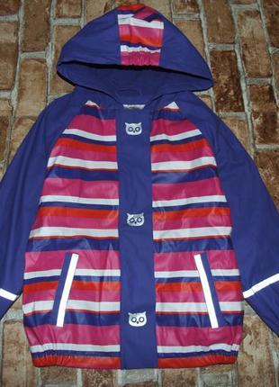 Куртка ветровка дождевик на флисе 4-6 лет lupilu сток