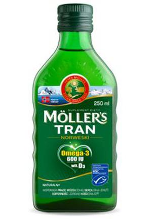 MOLLER'S Норвежский рыбий жир в жидкости с натуральным ароматом,
