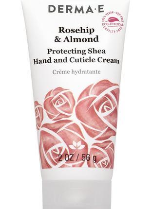 Защитный крем для рук кутикулы с маслом ши и миндалем Derma E США