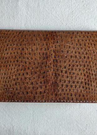 Винтажный портмоне (кошелёк-клатч) ручной работы из кожи змеи.