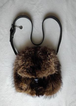 Сумка кросс боди из натурального меха и кожи harricana.