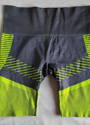 Компрессионные шорты яркого  цвета для занятий спортом  серия ...