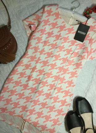 Платье в гусиную лапку missguided размер 10