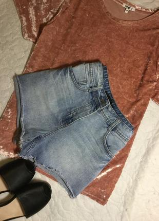 Шорты джинсовые с высокой посадкой crafted 8 размер