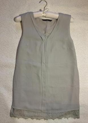 Блузка шифоновая с кружевом  devid emanuel