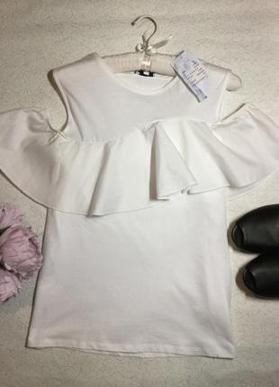 Блузка с открытыми плечами и воланом warehouse 10 размер