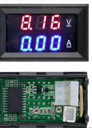 Цифровой амперметр-вольтметр,DC 0-100 V, 10 A , Электронный