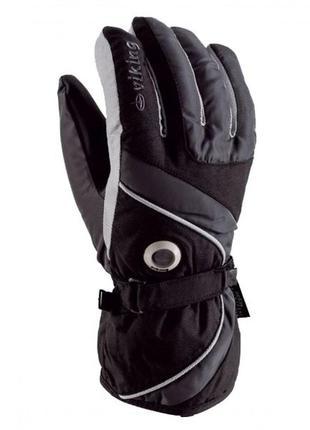 Рукавиці гірськолижні viking trick чорний-cірий 06 рукавицы пе...