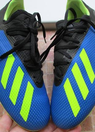 Бутсы футбольные adidas x 18.3 fg длина по стельке 24,5 см