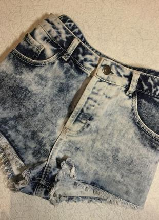 Шорты джинсовые варёнки topshop 10 размер