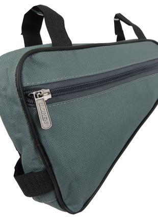 Велосипедная сумка 1,5L Loren ARS101 grey серая