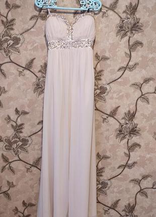 Вечернее платье в пол ,нежного цвета