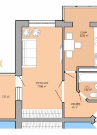 Продается квартира в новом доме! Дом сдан