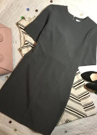 Платье классическое с красивой спинкой приталенное h&m 12 размер