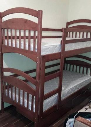 С ящиками и матрасами двухъярусная кровать Иринка.