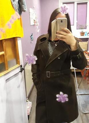 Неимоверное пальто на осень шоколадного цвета
