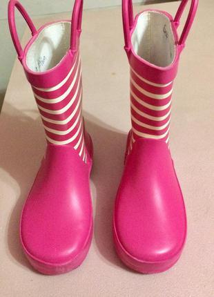 Резиновые сапоги для девочки от marks&spenser размер 25,5 стел...