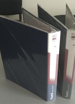 Дисплей-книга А4, 60 файлов, AXENT, №1060, цветные