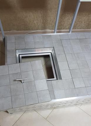 Люк-Невидимка Под Плитку 700х700, Скрытый Люк, Алюминиевый