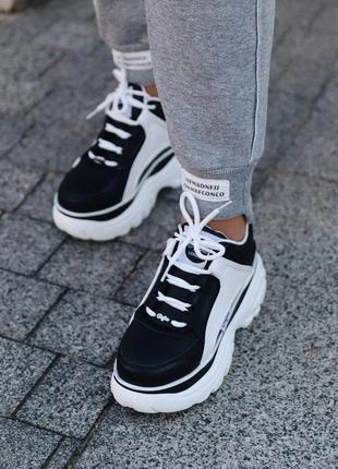 Женские кроссовки  b*uffalo black white