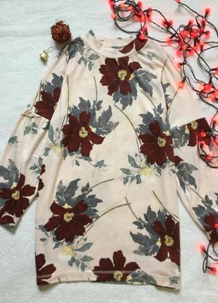 Кофточка в цветы marks &spenser 14 размер