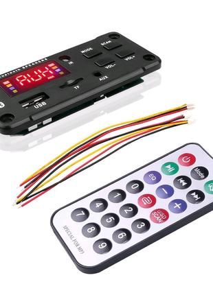 Автомобильный аудио модуль с цветным экраном, USB TF FM