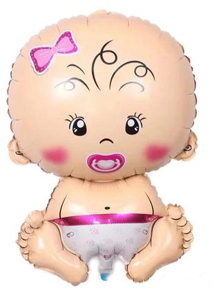 Воздушный шар фольгированный Малышка Девочка, Baby girl