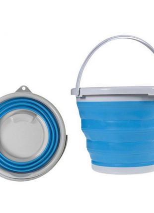 Складное силиконовое ведро на 5л Collapsible Bucket