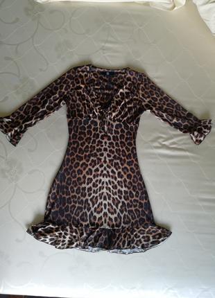 Платье missguided, s, леопард, тигровый