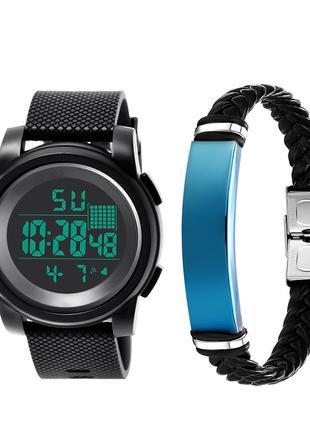 Електронные цифровые часы водонепроницаемый