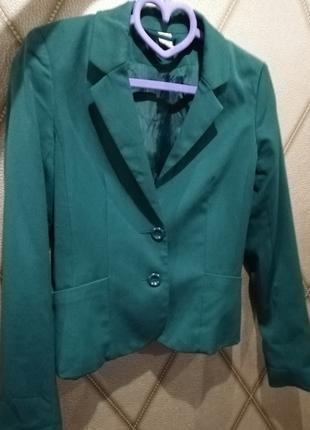 Пиджак изумрудного цвета, s, h&m, divided