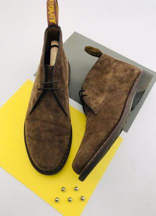Оригинальные замшевые ботинки dr. martens