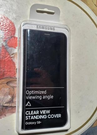 Оригин. чехол Samsung Galaxy Clear View Standing Cover S8+Black