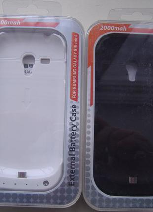 Power Bank 2000mAh + Чехол-бампер (2 в 1) Samsung Galaxy S3 mini