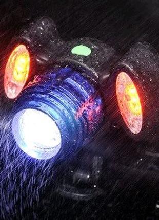 Велосипедный фонарь BG-658+2COB