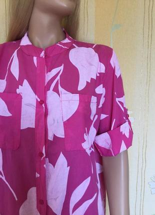 Невесомое хлопковое платье рубашка италия размер 14