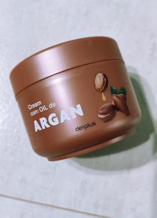 Крем для тела для очень сухой кожи с аргановым маслом deliplus
