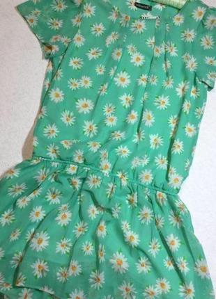 Платье шифоновое в цветы wework 10