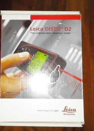 Рулетка лазерная , дальномер Leica Disto D2