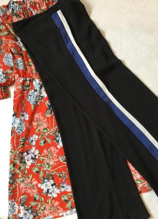 Штаны брюки широкие с лампасами marks&spenser размер 12