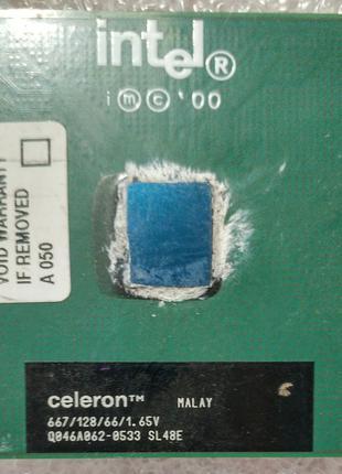 Процессор сокет 370 Intel Celeron SL6EB 667MHz 128 66