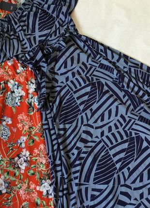 Платье макси  из летнего трикотажа с воланом на плечи marks&sp...